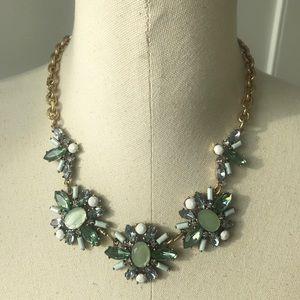 LOFT mint statement necklace
